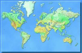 Cover-Bild zu Hildebrands Weltkarte. Die Welt. Poster-Karte