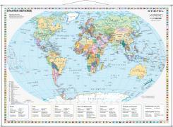 Cover-Bild zu Staaten der Erde, politisch 1 : 40 000 000. Wandkarte Kleinformat mit Metallstäben