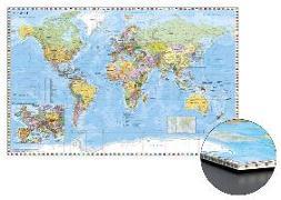 Cover-Bild zu Weltkarte mit Ausschnitt Zentraleuropa zum Pinnen auf Wabenplatte