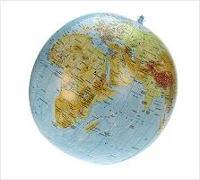 Cover-Bild zu Topographischer Globus aufblasbar