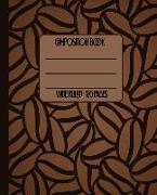 Cover-Bild zu Press, New Nomads: Wide Ruled Composition Book: Beautiful Rich Dark Coffee Bean Themed Composition Notebook for School, Work, or Home! Keep Your Notes Organized and a