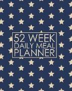 Cover-Bild zu Press, New Nomads: 52 Week Daily Meal Planner: Sparkling Stars Meal Planner Helps Plan and Prepare Tasty Meals for Your Family. with Recipe Lists and Budget Tracker
