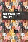 Cover-Bild zu Press, New Nomads: Dream It. Do It. - Undated Planner: Cute Colorful Cats Make This Undated Calendar Perfect for Home, School or Office