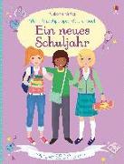 Cover-Bild zu Watt, Fiona: Mein Anziehpuppen-Stickerbuch: Ein neues Schuljahr