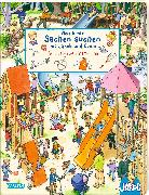 Cover-Bild zu Viele bunte Sachen suchen mit Jakob und Conni: Wimmel-Spielplatz-Spaß von Hofmann, Julia