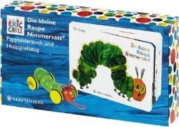 Cover-Bild zu Die kleine Raupe Nimmersatt - Geschenkset Pappbilderbuch mit PlanToys®-Holzraupe von Carle, Eric