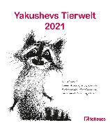 Cover-Bild zu Yakushevs Tierwelt 2021 - Wand-Kalender - Tier-Kalender - 30x34 - Illustrationen von Yakushev, Sergey