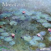 Cover-Bild zu Monet 2021 - Wand-Kalender - Broschüren-Kalender - 30x30 - 30x60 geöffnet - Kunst-Kalender von Monet, Claude