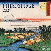 Cover-Bild zu Hiroshige 2021 - Wand-Kalender - Broschüren-Kalender - 30x30 - 30x60 geöffnet - Kunst-Kalender von Hiroshige, Utagawa