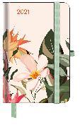 Cover-Bild zu GreenLine Diary Floral 2021 - Buchkalender - Taschenkalender - 10x15 von teNeues Calendars