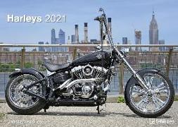 Cover-Bild zu Harleys 2021 - Wand-Kalender - 42x29,7 - Motorrad von Popkes, Christian