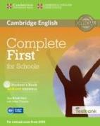 Cover-Bild zu Complete First for Schools Student's Book Without Answers with CD-ROM with Testbank von Brook-Hart, Guy