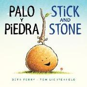 Cover-Bild zu Palo y Piedra/Stick and Stone bilingual board book von Ferry, Beth
