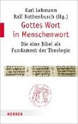 Cover-Bild zu Gottes Wort in Menschenwort (eBook) von Lehmann, Karl (Hrsg.)