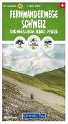 Cover-Bild zu Fernwanderwege Schweiz 1:301 000. 1:301'000 von Hallwag Kümmerly+Frey AG (Hrsg.)