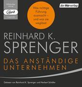 Cover-Bild zu Das anständige Unternehmen von Sprenger, Reinhard K.