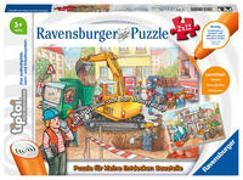 Cover-Bild zu Ravensburger tiptoi Spiel 00049 Puzzle für kleine Entdecker: Baustelle - 2x12 Teile Kinderpuzzle ab 3 Jahren, für Jungen und Mädchen, 1 Spieler