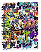 Cover-Bild zu Biella Schüleragenda mydiary 21/22, Wire-O, Graffiti