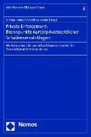 Cover-Bild zu Private Enforcement: Brennpunkte kartellprivatrechtlicher Schadensersatzklagen von Nietsch, Michael (Hrsg.)