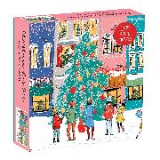Cover-Bild zu Galison (Geschaffen): Christmas Carolers Square Boxed 1000 Piece Puzzle