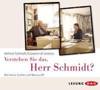 Cover-Bild zu Verstehen Sie das, Herr Schmidt? von Schmidt, Helmut