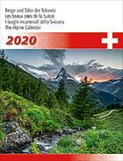Cover-Bild zu Cal. Berge + Täler der Schweiz Ft. 31x40 2020