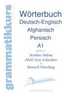 Cover-Bild zu Wortschatz Deutsch-Englisch-Afghanisch-Persisch Niveau A1 von Abdel Aziz - Schachner, Marlene