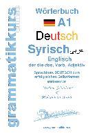 Cover-Bild zu Wörterbuch Deutsch - Syrisch - Englisch A1 von Abdel Aziz - Schachner, Marlene