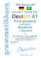 Cover-Bild zu Wörterbuch Deutsch - Portugiesisch (Brasilien) - Englisch Niveau A1 von Schachner, Marlene