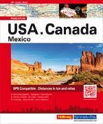 Cover-Bild zu USA/ Canada/ Mexico Strassenatlas von Hallwag Kümmerly+Frey AG (Hrsg.)