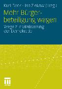 Cover-Bild zu Beck, Kurt (Hrsg.): Mehr Bürgerbeteiligung wagen (eBook)