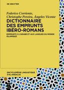 Cover-Bild zu Dictionnaire des emprunts ibéro-romans (eBook) von Corriente, Federico (Hrsg.)