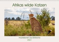 Cover-Bild zu Di Chito, Ursula: Afrikas wilde Katzen (Wandkalender 2021 DIN A3 quer)