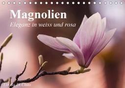 Cover-Bild zu Di Chito, Ursula: Magnolien - Eleganz in weiss und rosa (Tischkalender 2021 DIN A5 quer)