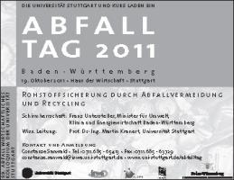 Cover-Bild zu Abfall Tag 2011 von Institut für Siedlungswasserbau, Universität Stuttgart (Hrsg.)