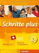 Cover-Bild zu Hilpert, Silke: Schritte plus 4. A2/2. Ausgabe Schweiz. Kurs- und Arbeitsbuch