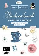Cover-Bild zu Bullet Journal - Stickerbuch Alphabete und Sprüche: 1000 Buchstaben und mehr für jeden Anlass