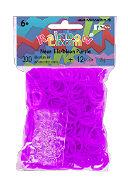 Cover-Bild zu Rainbow Loom Silikonbänder Neon lila / Neon purple