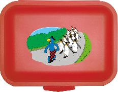 Cover-Bild zu Globi Lunchbox Pinguinparade rot