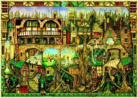 Cover-Bild zu Baumhäuser. Puzzle