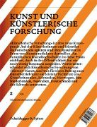 Cover-Bild zu Kunst und künstlerische Forschung von Caduff, Corina (Hrsg.)