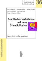 Cover-Bild zu Riegraf, Birgit (Hrsg.): Geschlechterverhältnisse und neue Öffentlichkeiten