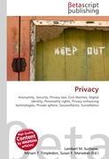Cover-Bild zu Privacy von Surhone, Lambert M. (Hrsg.)