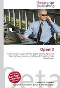 Cover-Bild zu OpenID von Surhone, Lambert M. (Hrsg.)