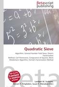 Cover-Bild zu Quadratic Sieve von Surhone, Lambert M. (Hrsg.)