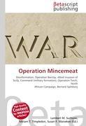Cover-Bild zu Operation Mincemeat von Surhone, Lambert M. (Hrsg.)