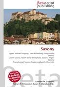 Cover-Bild zu Saxony von Surhone, Lambert M. (Hrsg.)