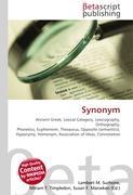 Cover-Bild zu Synonym von Surhone, Lambert M. (Hrsg.)