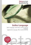 Cover-Bild zu Sotho Language von Surhone, Lambert M. (Hrsg.)