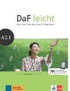 Cover-Bild zu DaF leicht / Kurs- und Übungsbuch + DVD-ROM A2.1